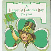 """A Happy St. Patrick's Day to you"" - Leprechaun - Postcard"
