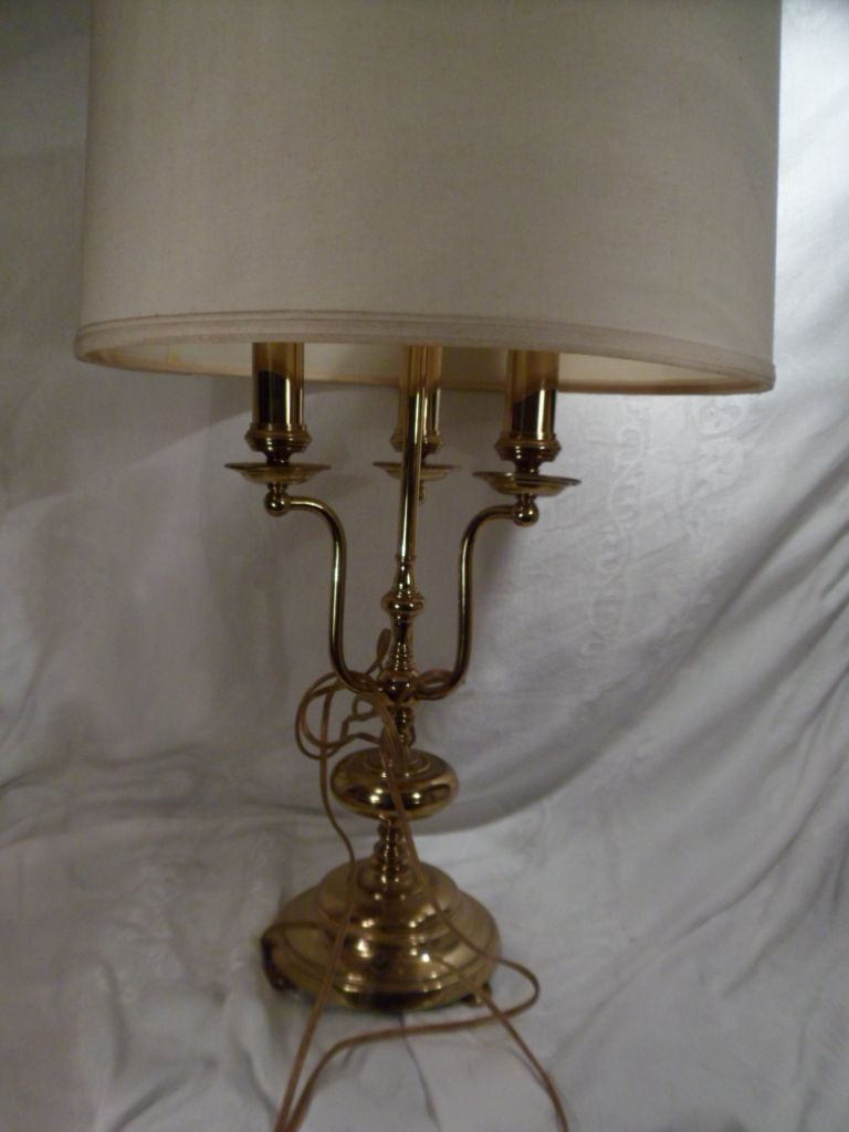 Vintage 3 Bulb Lamp, Stiffle, Brass