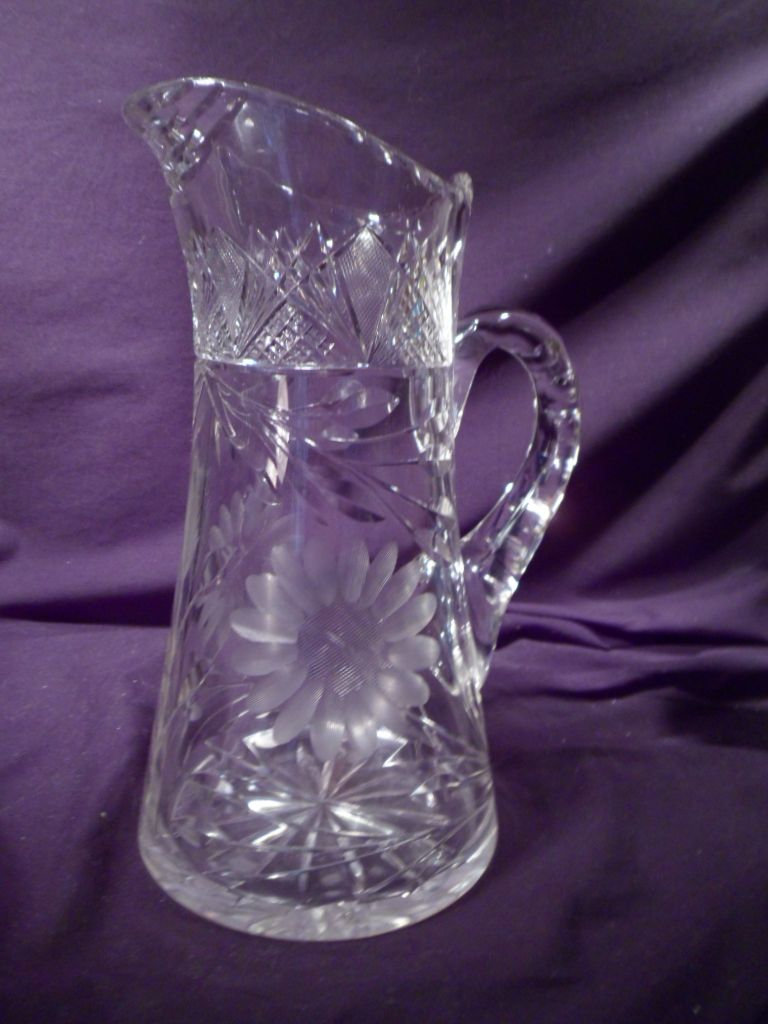 Crystal Water Jug And Glasses Cut-crystal Pitcher/jug Glass