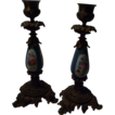 (2) Victorian Boudoir Candlesticks, Sevres