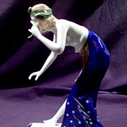 Rare Rosenthal Art Deco Figurine, Woman Snake Dancer,&quot; B Boehs, Vintage