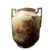 Nippon Gold Porcelain Hand Painted Vase