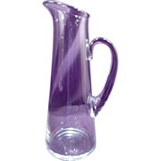 "Baccarat Pitcher ""Giftware"" Pattern, Crystal, Clear, Tall, Glass, Minimalist"