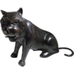Large Vintage Bronze Cat, Lion, Panther, Jaguar, Art Metal, Japanese, Heavy