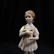 Signed Cybis &quot;Heidi&quot; Figurine, 1962 Edition, Mint, Porcelain, Vintage