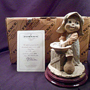 MIB Giuseppe Armani Figurine Getting Clean, Original Box, Certificate of Authenticity, Mint