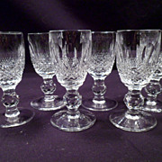 Set of 6 Waterford Colleen Liqueur, Cordial Glasses, 4 More Available, Marked, Cut Crystal