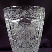 Large Vase, Polish Cut Crystal, Presentation, Engraved Polish Eagle, Greetings in Polish, Quee