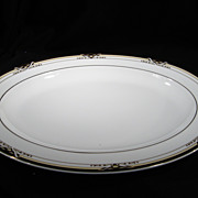 Spectacular Royal Doulton Platter (Dumont), Porcelain, White, Vintage