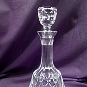 Cut Crystal Decanter, High Quality, Stoppered, Heavy, Clear, Glass, Vintage