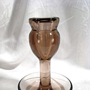 Rare Moser Smoked Glass Vase, Josef Hoffmann, 1920s, Vintage, Art Glass