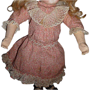 SALE Darling small size antique printed cotton doll dress