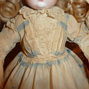 "SALE Darling antique dress for 12-14"" dolls"