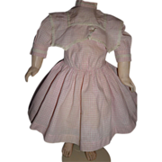 SALE Beautiful antique doll dress with bertha collar