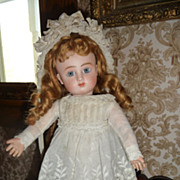 Beautiful embroidered antique dress for small to medium doll