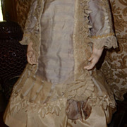 Wonderful and detailed dress for medium to large sized antique doll