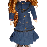 Charming antique wool doll dress for small doll