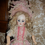 Darling tiny antique lace overlay doll dress