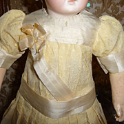 Beautiful little silk and lace doll dress for small doll