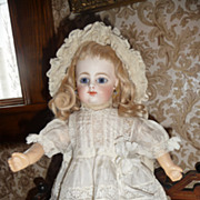 Gorgeous little silk and lace doll dress for small doll