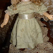 SALE Beautiful antique silk brocade dress for small doll