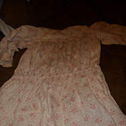 Sweet and simple antique dropwaist calico dress for large doll