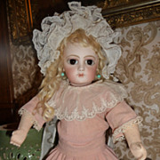 Charming antique small size pink crepe doll dress