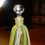 SALE Blown Glass Perfume Bottle - Latticino