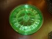 Doric Green Depression Glass Grill Plates