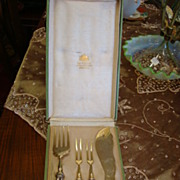 SALE Silver Serving Set