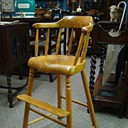 SALE Antique Youth Chair / High Chair