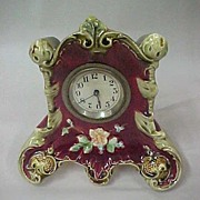 SOLD Majolica Clock