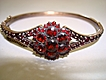 Bohemian Garnet Hinged Bracelet