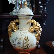 SALE Tall Porcelain Urn - Victoria Schmidt & Co.