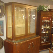 SALE English Art Deco China Cabinet