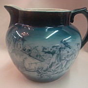 "SALE Buffalo Pottery Pitcher - ""Buffalo Hunt"""