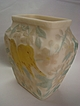 "Custard Glass Vase - Consolidated ""Love Birds"""