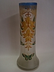 Antique Satin Glass Enamel Vase