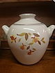 "Hall's Jewel Tea ""Autumn Leaf"" Cookie Jar-Mary Dunbar"