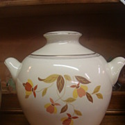 "SALE Hall's Jewel Tea ""Autumn Leaf"" Cookie Jar-Mary Dunbar"