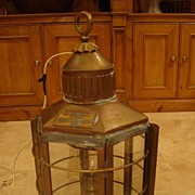 SALE Clipper Ship Lantern - Hanging Light Fixture