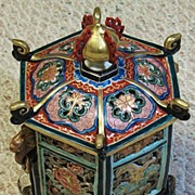 Japanese  Arita Imari 18th century porcelain reticulated incense burner
