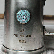 SALE USA Korean 1953 presentation memorial silver plated mug for signing members of Korean ...