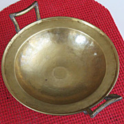 Russian gilded bronze pedestal serving dish Imperial Moscow mark