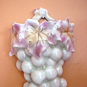 SALE Royal Bayreuth Figural Grapes Wall Pocket