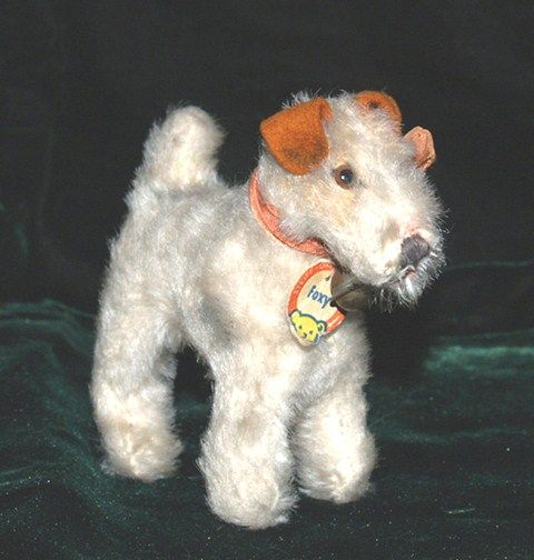 Adorably Steiff Foxy Fox Terrier Dog