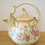 Gorgeous Royal Bonn Split Handled Teapot with Handpainted Floral Decor