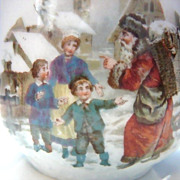 Santa Claus German Christmas Scene Child's Cup