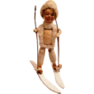 Spun Cotton Skiing Boy Christmas Ornament