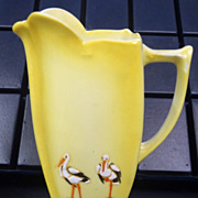 Royal Bayreuth Stork Cream Pitcher
